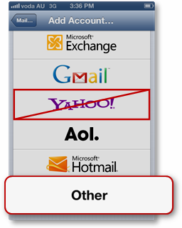 how to get yahoo mail on iphone 4